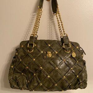 Dark Green and Gold Shoulder Bag